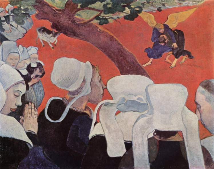 Gauguin, The Vision After the Sermon (Jacob wrestling with the Angel)