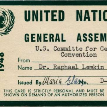 Raphael Lemkin's 1948 UN Pass