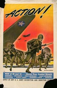 1942 recruiting poster for the U.S. Army