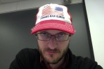 A bearded me wearing a trucker hat - there's a word-picture for you...