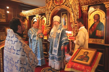 Metropolitan Tikhon celebrating Divine Liturgy in Nov. 2012