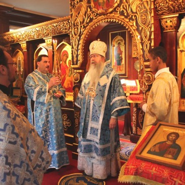 Metropolitan Tikhon celebrating Divine Liturgy in Nov. 2012