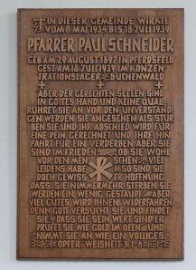 Schneider Memorial in Womrath, Germany