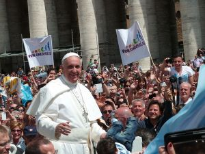 Pope Francis in St. Peter's Square, May 2013