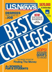 U.S. News 2014 Best Colleges cover