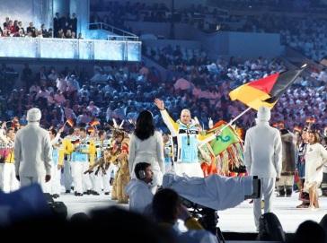 German team at Vancouver opening ceremonies