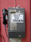 Out of order phone booth