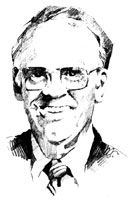 Drawing of Walfred Peterson