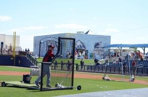 Spring training batting practice, 2010