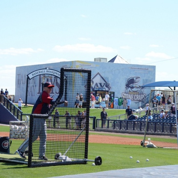 Spring training batting practice, 2010