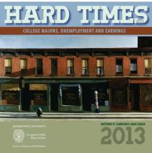 "Cover of 2013 ""Hard Times"" report from Georgetown's Center on Education and the Workforce"
