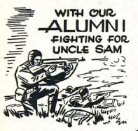 Alumni at war column from 1943 Bethel Clarion