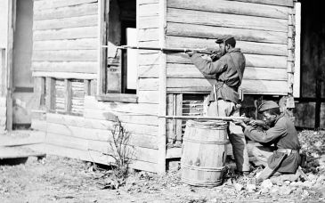 African American soldiers fighting in 1864