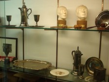 Bethel memorabilia case at History Center