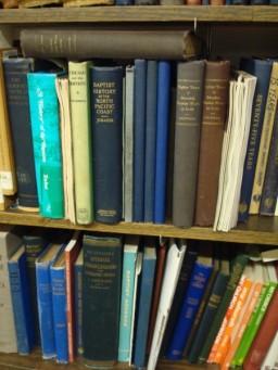 Bookshelf at the History Center