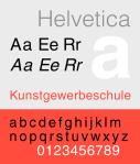 Helvetica specimen