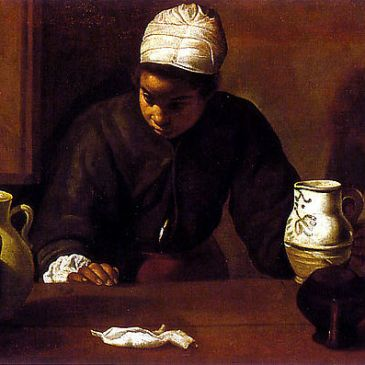 "Velázquez, ""Kitchen Maid at Emmaus"""
