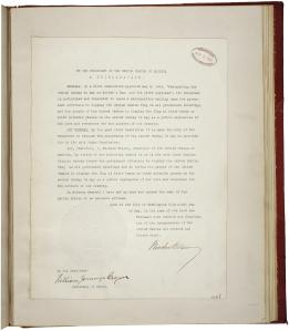 Woodrow Wilson's May 1914 proclamation on Mother's Day