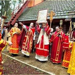 Russian Orthodox procession in Mulino, OR - Russian Orthodox Church