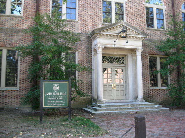 James Blair Hall, home of the William & Mary history department