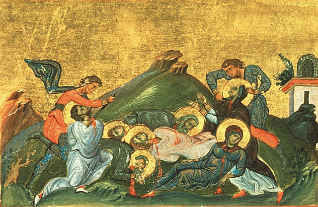 11th century painting of the martyrdom of Perpetua
