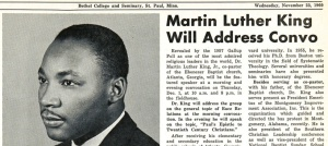 Clarion story about December 1960 visit to Bethel by Martin Luther King, Jr.