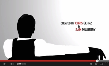 """Screenshot from the opening titles to our """"Past & Presence"""" webisode series"""