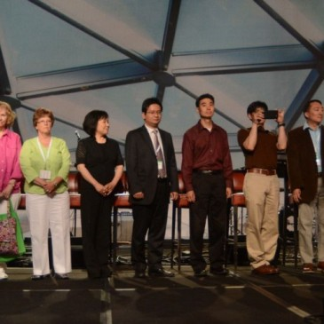 Representatives of new ECC churches at the denomination's 2014 annual meeting