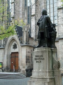 Statue of Bach at the St. Thomas Church in Leipzig