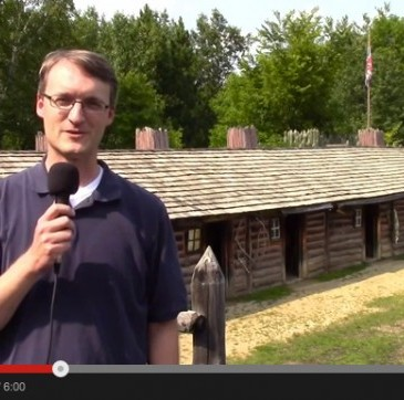 Screen shot of our visit to the North West Company Fur Post in Pine City, MN