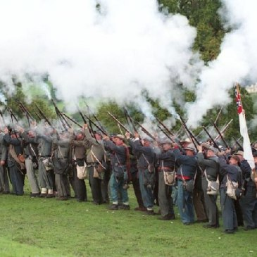 American Civil War reenactment in England