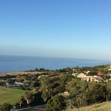 View of the Pacific Ocean from Pepperdine's campus