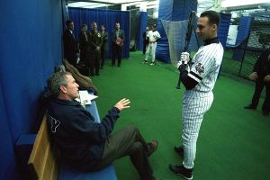 Derek Jeter and George W. Bush, 2001