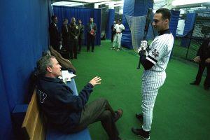 Derek Jeter and George W. Bush, 2001