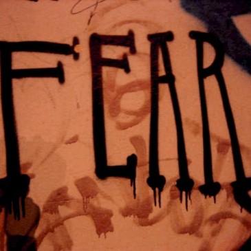 """""""Fear"""" graffito"""