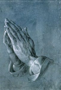 Dürer drawing of hands folded in prayer