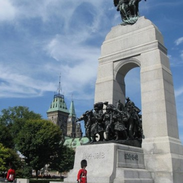 The National War Memorial in Ottawa, Canada