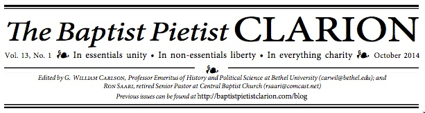 Header of the Oct 2014 issue of The Baptist Pietist Clarion