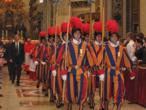 Swiss Guards in the Vatican
