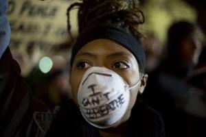 """Garner protest: """"I can't breathe"""""""