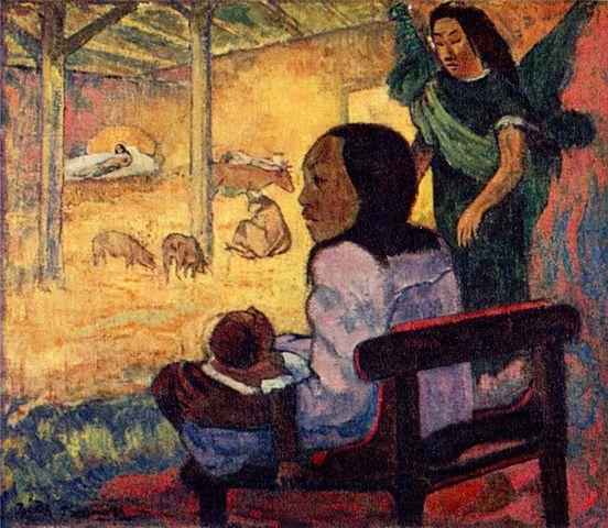 """Gauguin, """"Baby (Nativity of Tahitian Christ)"""""""
