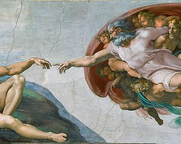 "Michelangelo, ""The Creation of Adam"""