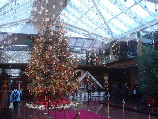 Christmas tree in a Beijing hotel