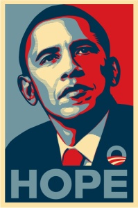 """Barack Obama """"Hope"""" poster, 2008"""
