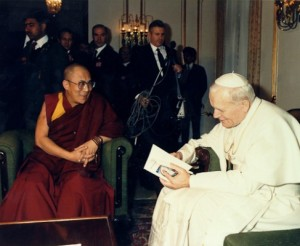 Dalai Lama and Pope John Paul II