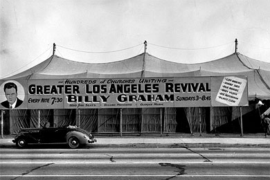 Los Angeles Crusade tent in 1949