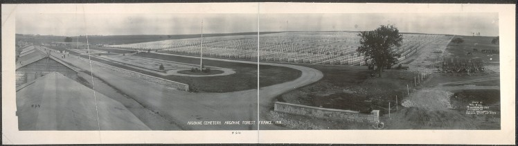 The American Argonne Cemetery in 1919