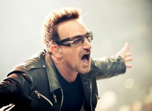 Bono performing in 2011
