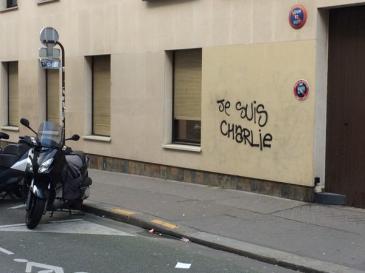 """Je Suis Charlie"" graffito in Paris"