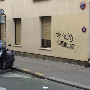 """Je Suis Charlie"" graffito in Paris"